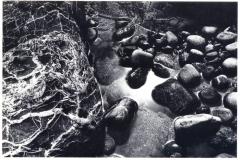 sun in pebbles